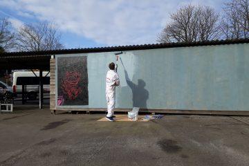 Die Wand – eine Außengalerie